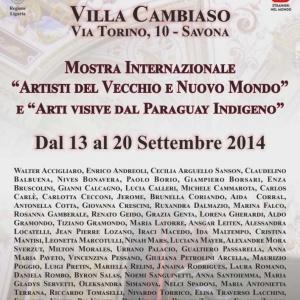 VILLA CAMBIASO -MOSTRA INTERNAZIONALE ARTISTI VECCHIO E NUOVO MONDO
