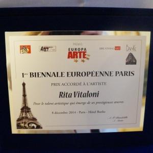 PREMIO I BIENNALE EUROPEA PARIS