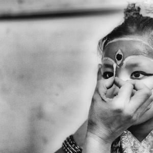 2014 NEPAL - KUMARIS THE  LIVING  GODDESSES